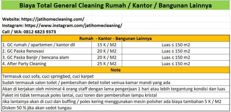 biaya total general cleaning di batam